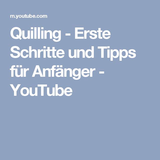 Quilling Erste Schritte Und Tipps Für Anfänger Youtube Deco
