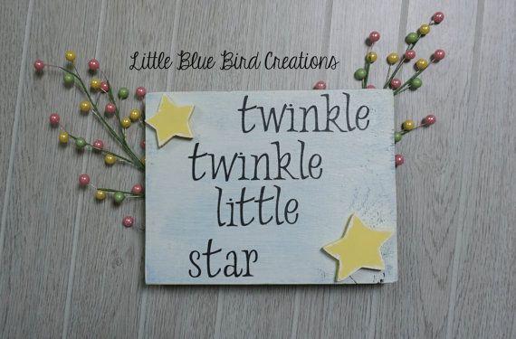 #twinkletwinklelittlestar #woodsign #woodstar #nurserydecor #babyshower #nurseryrhyme