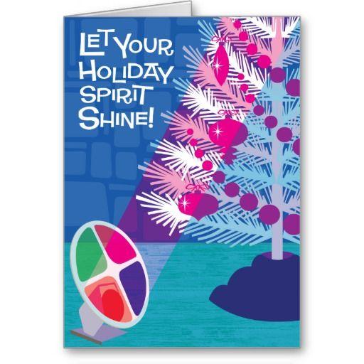 Aluminum Tree Christmas Cards Christmas cards, Vintage christmas