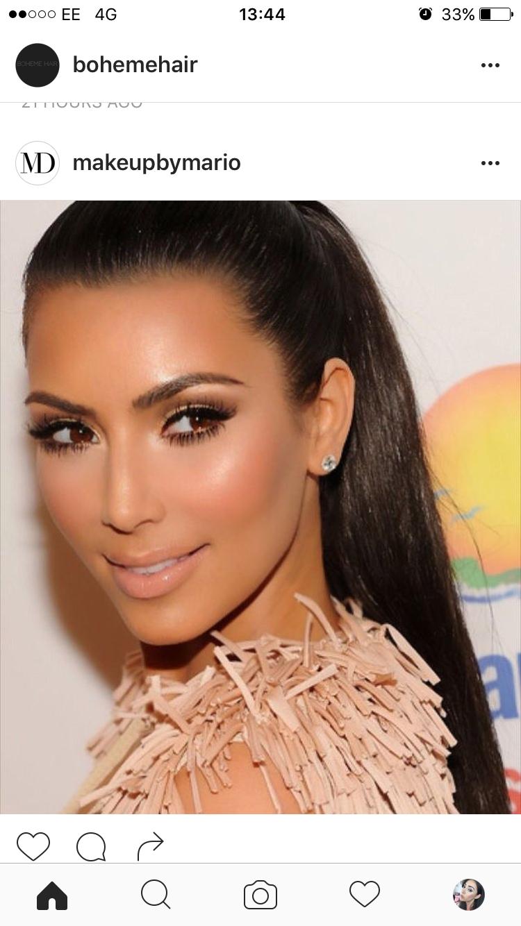 Pin by garnet t on Kim Kardashian make-up (With images ...