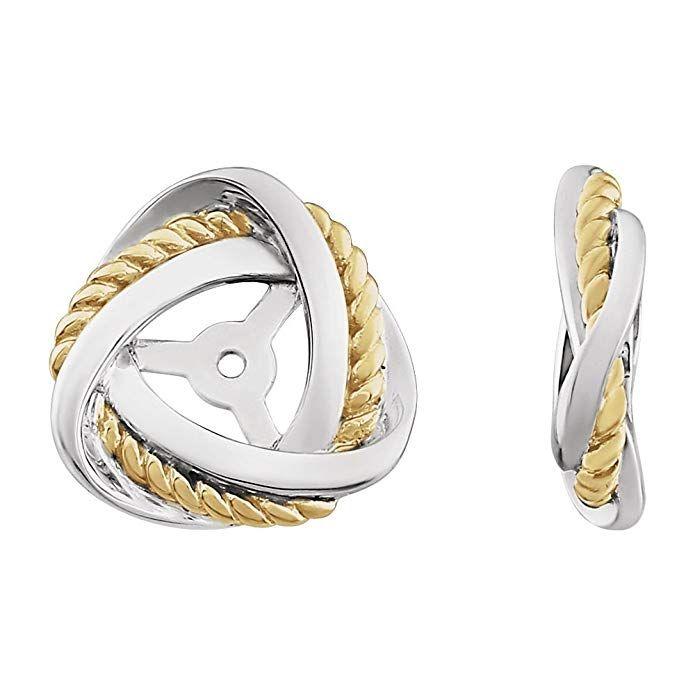 Mia Diamonds 14k Rose Gold Polished Love Knot Post Earrings