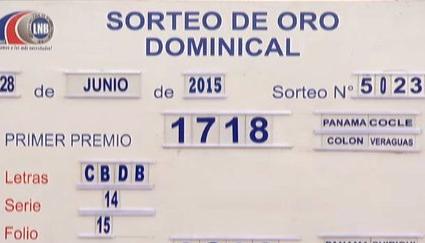La Lotería Nacional De Beneficencia De Panama Celebro El Sorteo De Oro Dominical No 5023 Corres Lotería Nacional Resultados Loteria Nacional Resultado Loteria