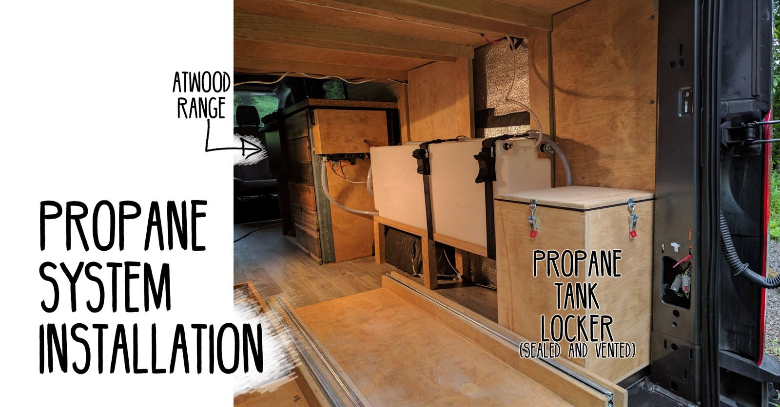 Propane System Installation Of Our Ford Transit Campervan Conversion Materials Tools Cost And