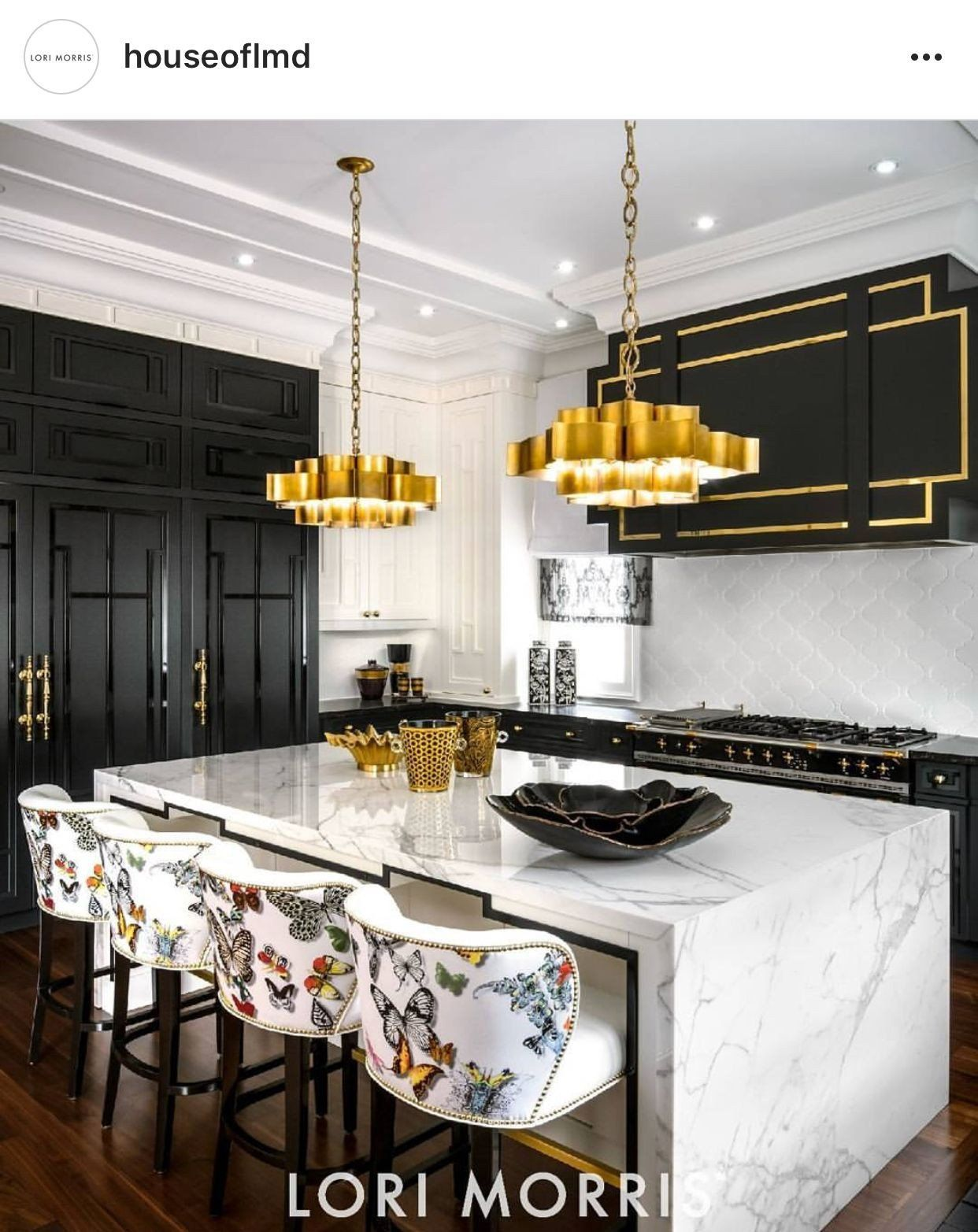 Butterfly Decoration Ideas Awesome Except For The Super Yellow Gold Fixture The Butterfly Luxury Kitchen Design Luxury Kitchens Home Decor Kitchen