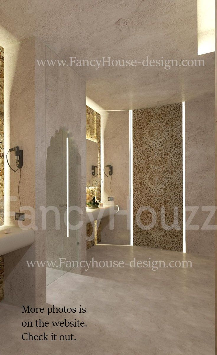 Luxury modern moroccan interior design for a bathroom. More interior ...