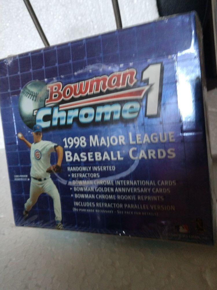 1998 bowman chrome mlb baseball hobby box series 1 new