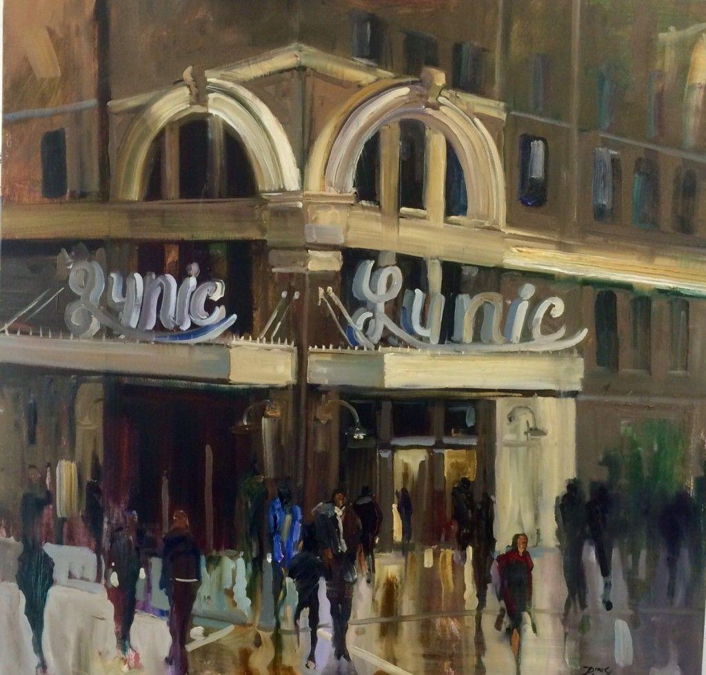 "Birmingham's New Glamerous Dame - The Lyric 40"" x 40"", oil"