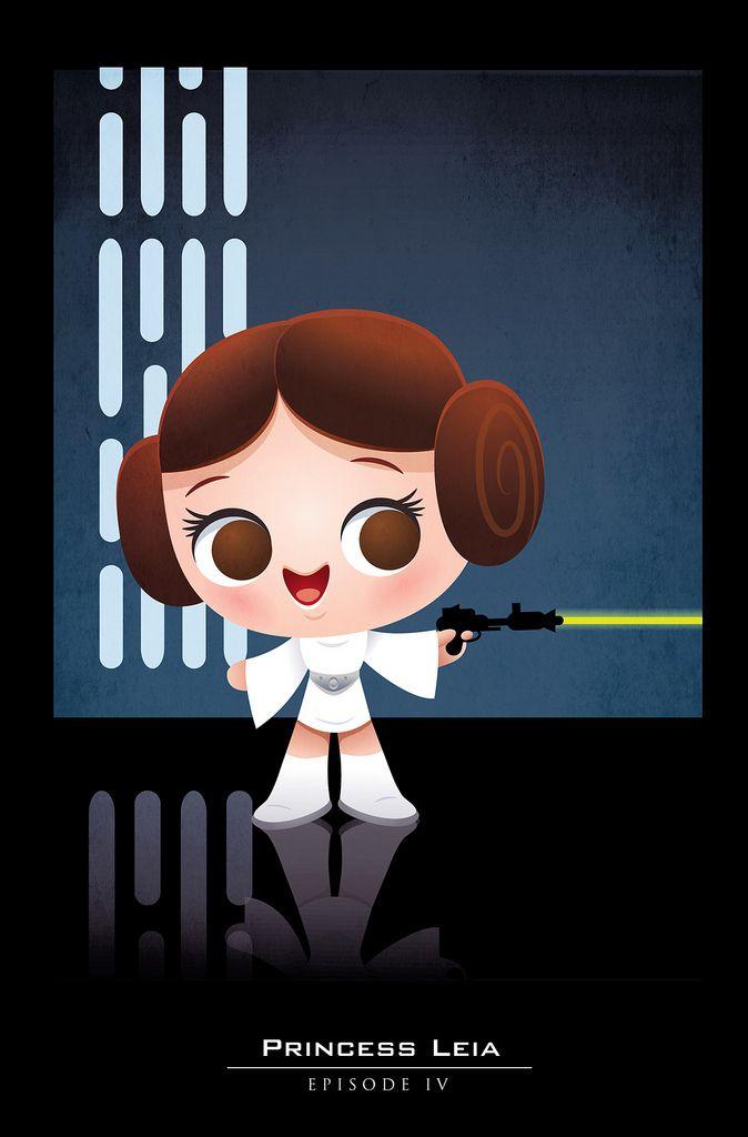 Princesa Leia estilo Meninas Super Poderosas.