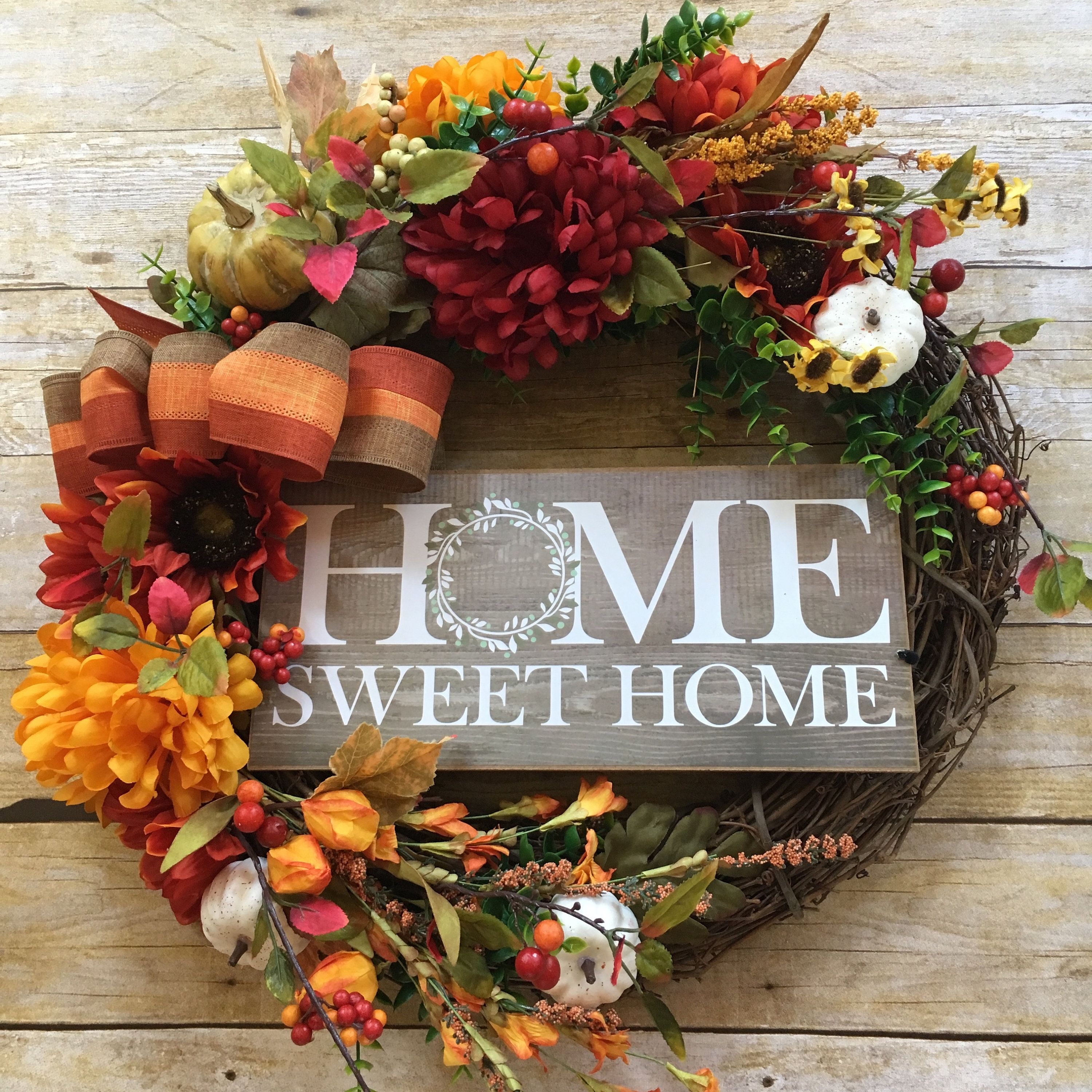 Photo of Fall Wreath, Grapevine Wreath, Front Door Wreath, Autumn Decor, Thanksgiving Decor, Gift for Her, Housewarming Gift, Welcome Sign