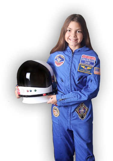 Alyssa Carson -Call sign Blueberry  At the age of 3 wanted to be an