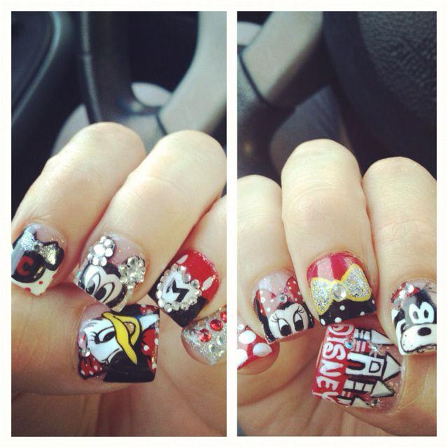 Disneyland nails <3   Nails   Pinterest   Disneyland nails, Disney ...