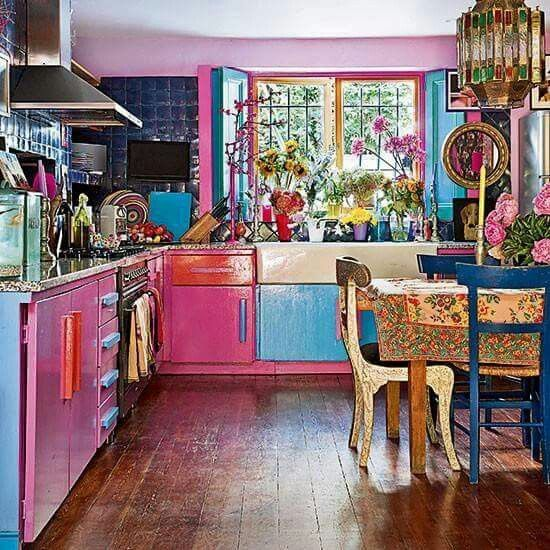 where vintagedecor meets boho and all the colors quirky kitchen boho kitchen on kitchen decor hippie id=44849