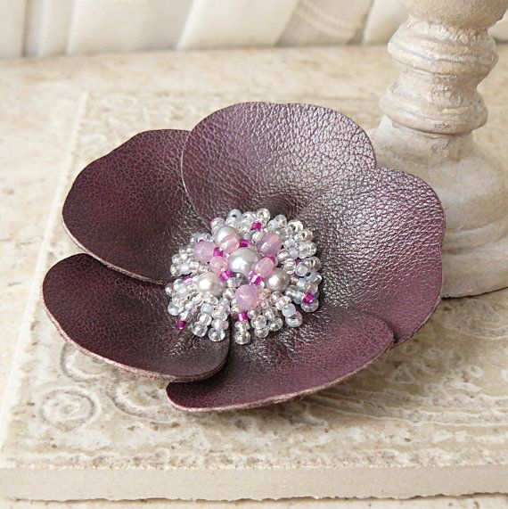 Buy here... http://www.etsy.com/listing/103629715/layered-fabric-flower-brooch-pin-in