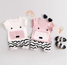 2-teiliges Unisex-Babykleidungsset T-Shirt & Shorts perfekt für den Sommer