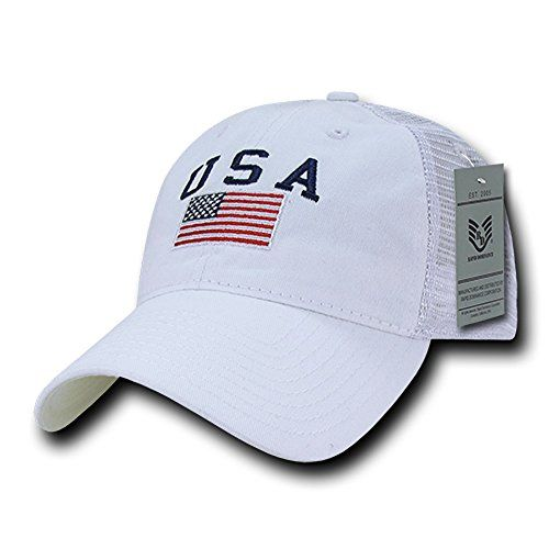 e15f2d5f952  14.00 -  12.64 Rapid Dominance Soft Fit American Flag Embroidered Cotton  Trucker Mesh Back Cap