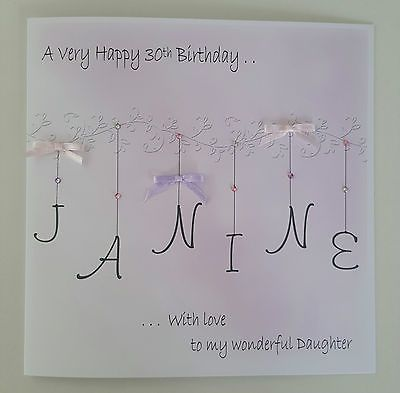 Large Personalised 30th Birthday Card Daughter 13th 16th 18th 21st