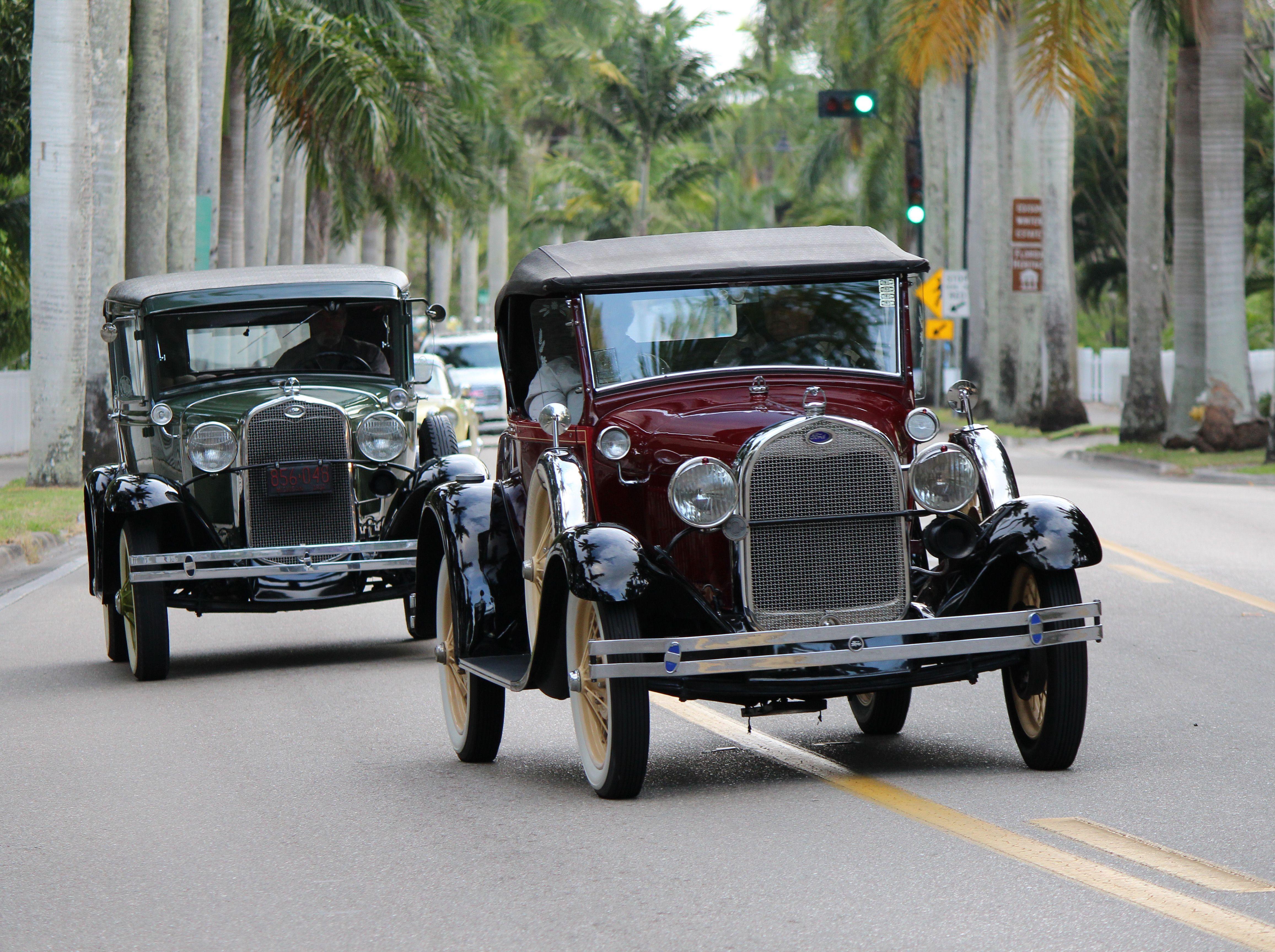 Thomas Mina Edison Henry Clara Ford Vintage Cars Classic