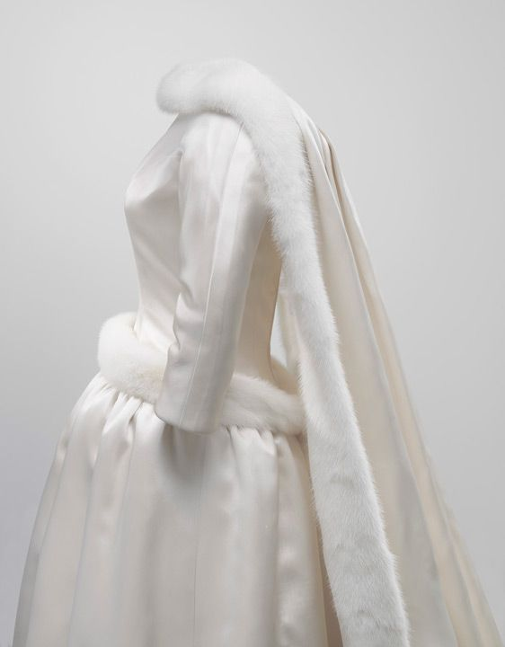 Balenciaga wedding dress worn by Queen Fabiola of Belgium, 1960 ...