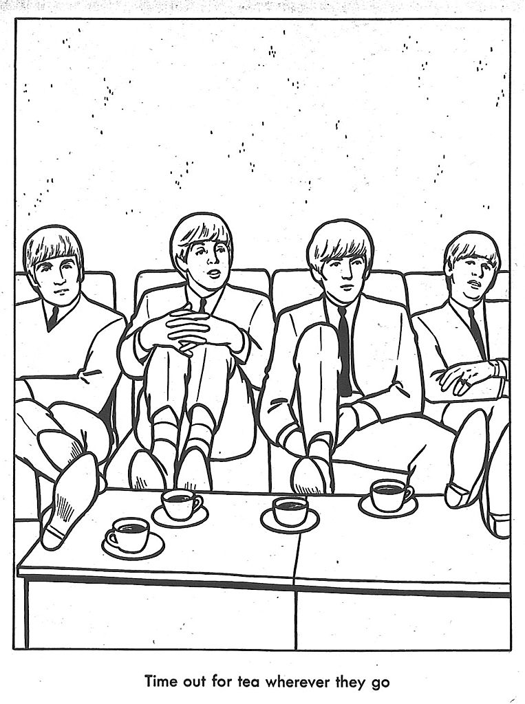 The Beatles Coloring Book-bad manners (feet on the table) lesson ...