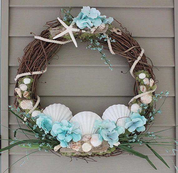 Photo of corona da spiaggia, corona costiera, corona tropicale, decorazione da spiaggia, decorazione costiera, lei …