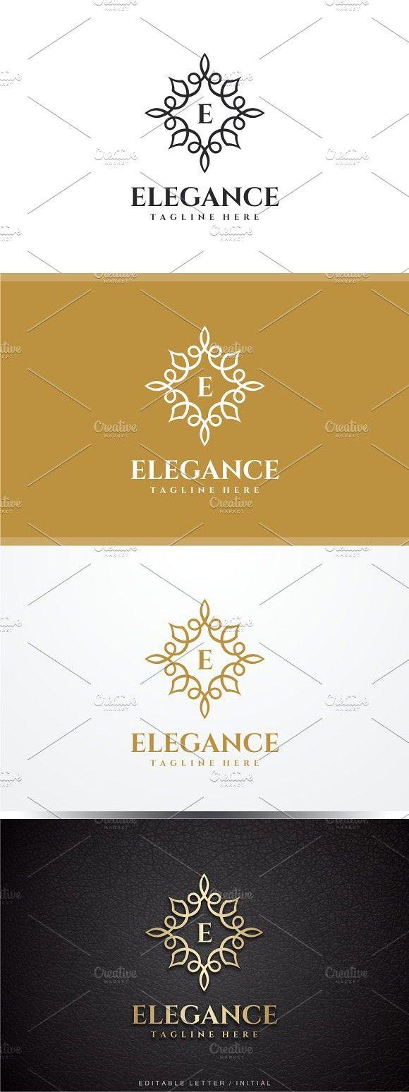 Elegance Letter E Logo Lettering, Club design, Letter e