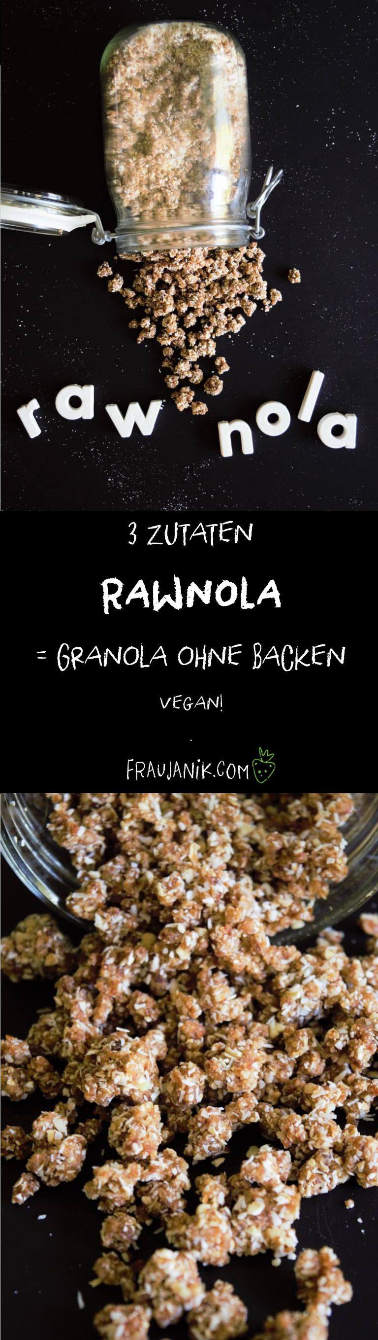 Rawnola Grundrezept - Granola ohne backen vegan, Rohköstlich & ohne Haushaltzucker... Ein anderes Müslitopping
