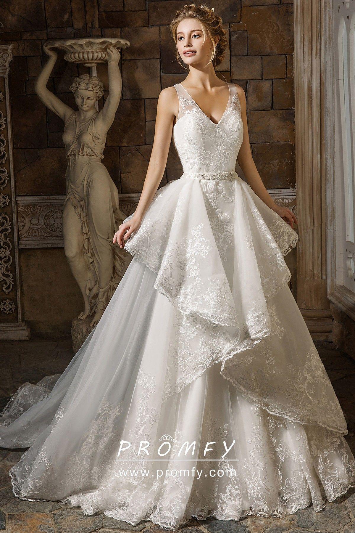 Asymmetrical Overskirt V Neck Mermaid Wedding Dress Detachable Train Wedding Dress Wedding Gowns Mermaid Wedding Dress Train [ 1800 x 1200 Pixel ]