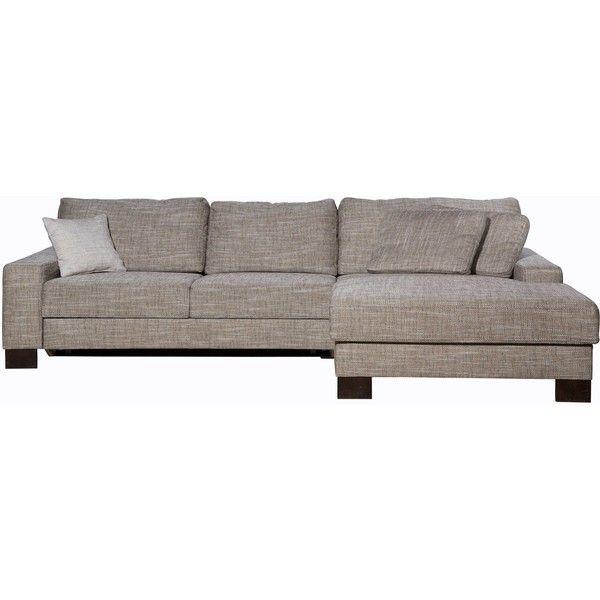 Sofabett holz  KARE Design - Ecksofas -Sofa Como, Beige, Ottomane rechts, Fuß ...