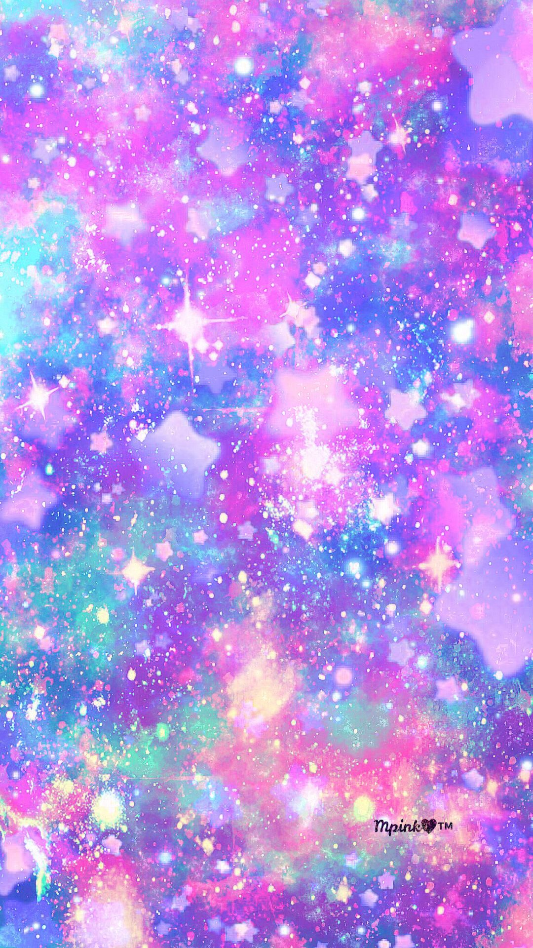 Pastel stars galaxy wallpaper androidwallpaper - Colorful galaxy wallpaper ...