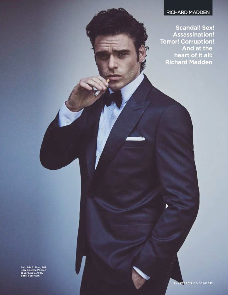 Richard Madden Stars in British GQ Cover Shoot, Discusses ...