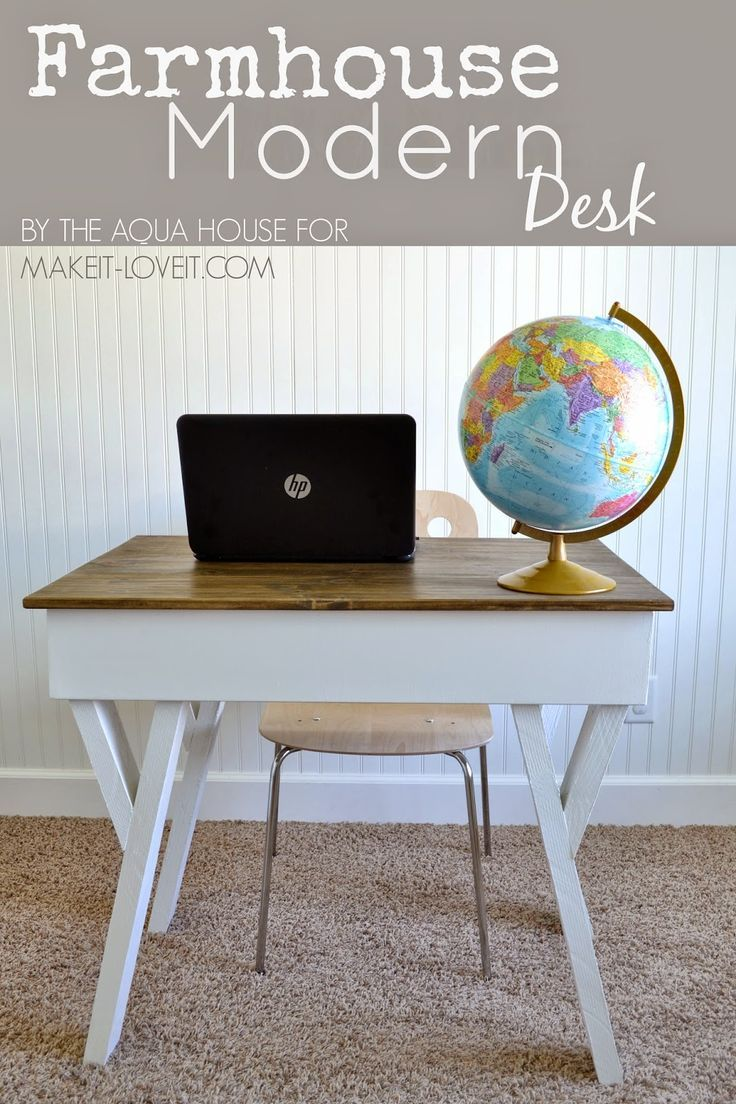 Diy Farmhouse Style Desk Diy Farmhouse Modern Desk With Open Front Storage Cubby Home