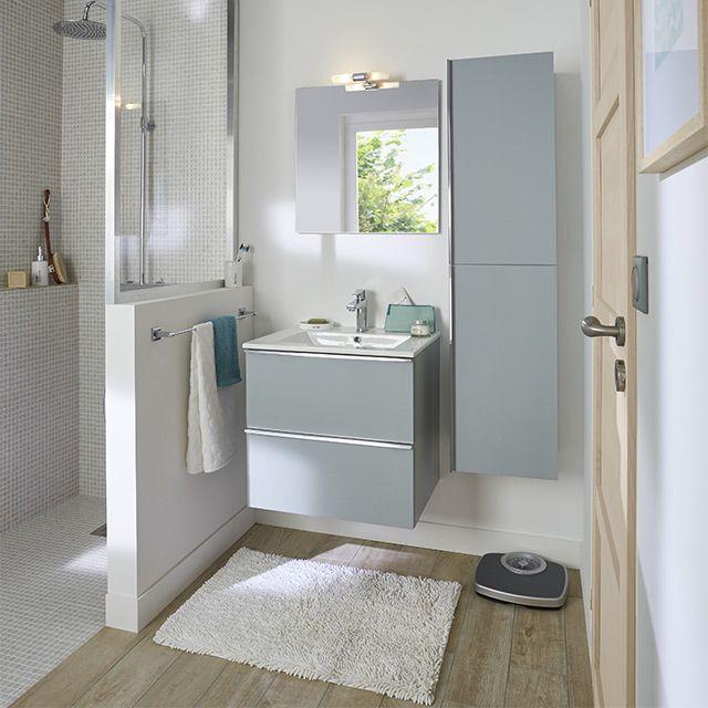 meuble de salle de bains aqua 60 cm ohla castorama sdb. Black Bedroom Furniture Sets. Home Design Ideas