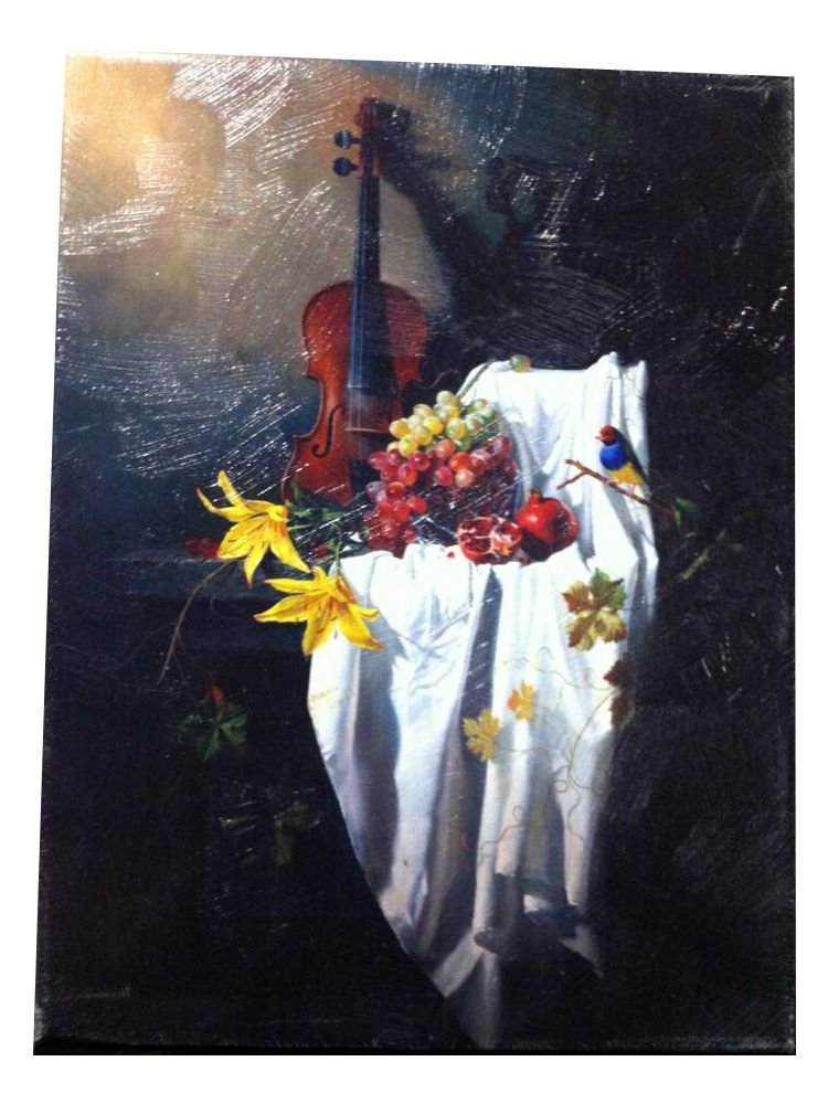 stretched canvas prints with brush strokes, still life of