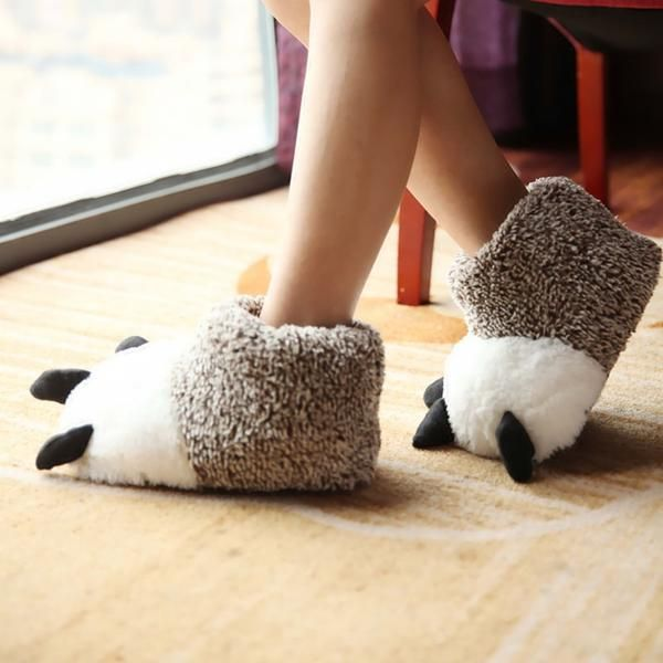 5752efd5abb5c Cozy Plush Animal Paw Slippers | Sweet Shoes & Slippers | Bearpaw ...