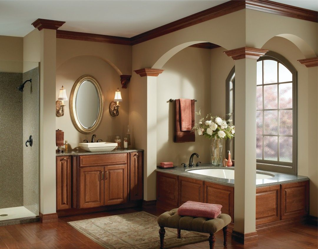 Feel like a queen while pampering yourself in this royal master bath ...