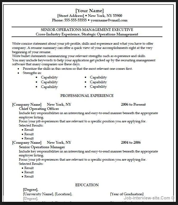 Describe Yourself 4-Resume Examples Resume format examples