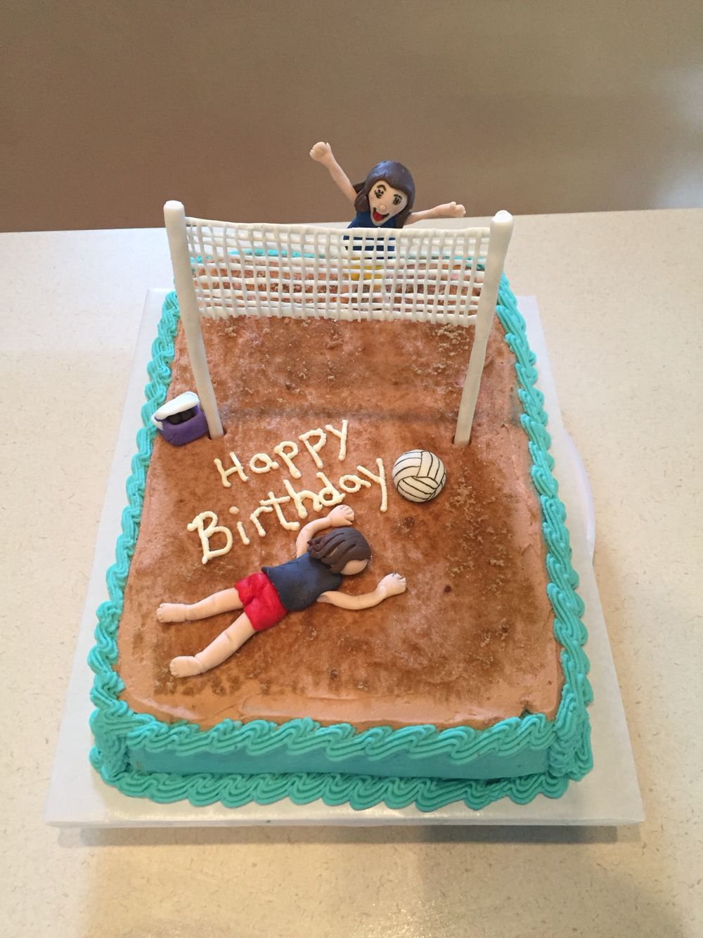 Strange Volleyball Volleyball Cakes Personalised Birthday Cards Beptaeletsinfo