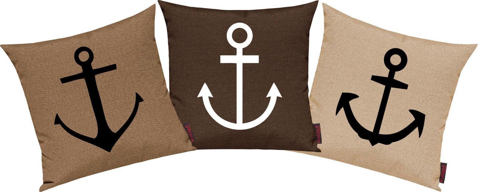 Pillow Cases 3 Set Sofa Cushion Maritim Anchor Set Kissen