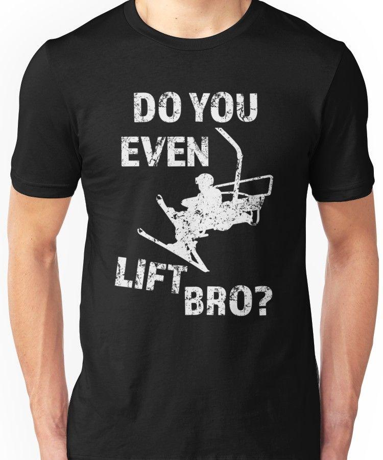 Do You Even Lift Bro Skiing T-shirt