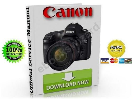 Canon Eos 5d Dslr Camera Service Manual Repair Parts List Other