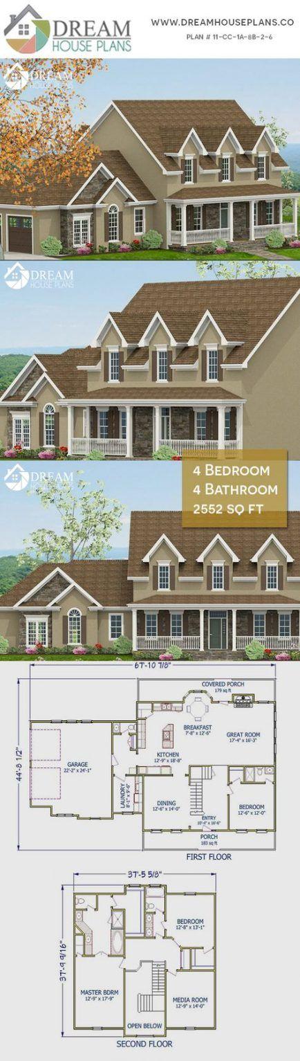 House Plans Craftsman Open Floor Porches Dream Homes 53 Ideas Craftsman House Plans Dream House Plans Exterior House Remodel