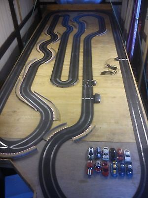 Massive Huge Large Sport Scalextric Set 12 Cars Pit Wall Garage Building Slot Cars Scalextric Cars Slot Car Race Track