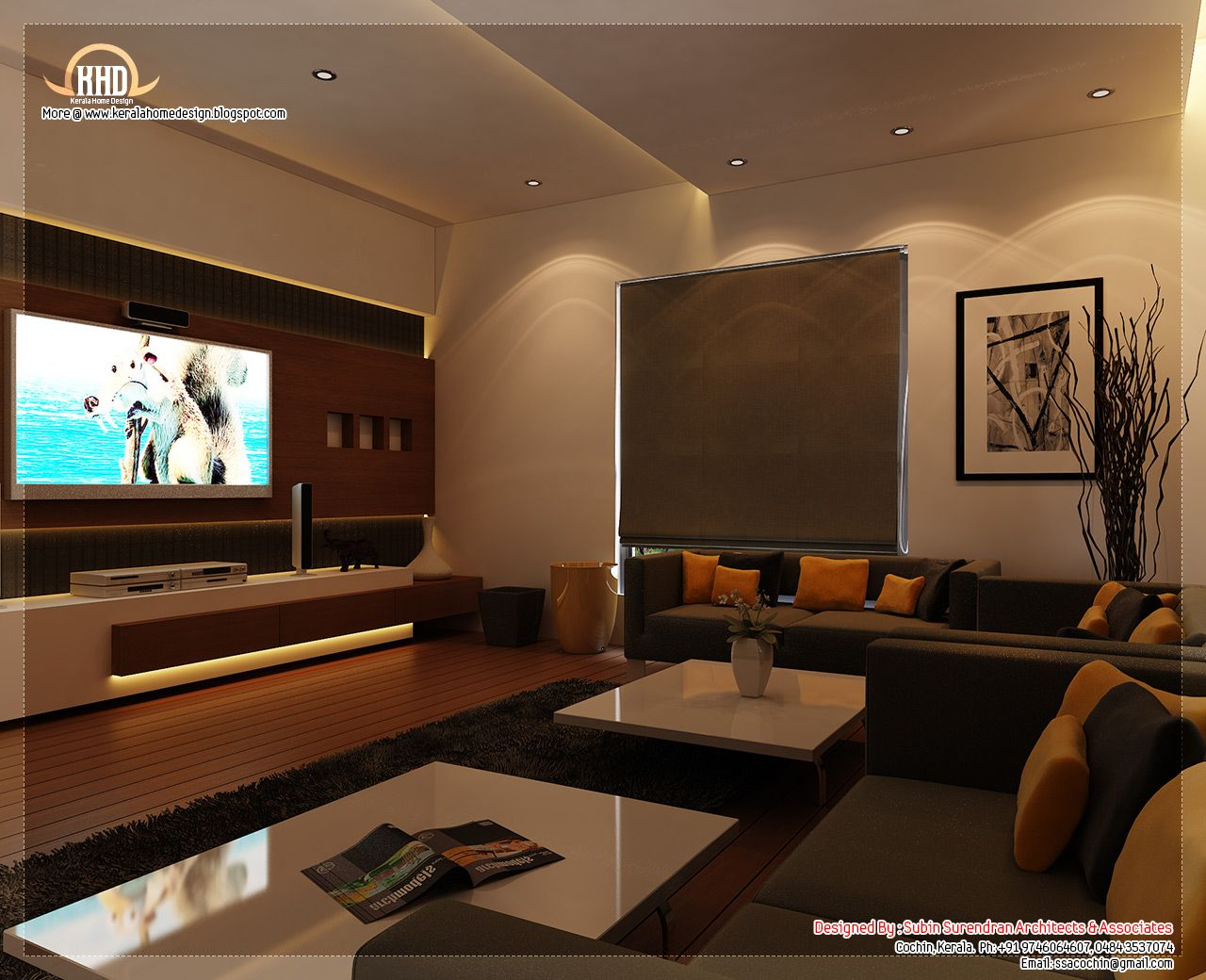Beautifully Rendered Home Interior Design Concepts By Subin Surendran Architects Kochi Kerala