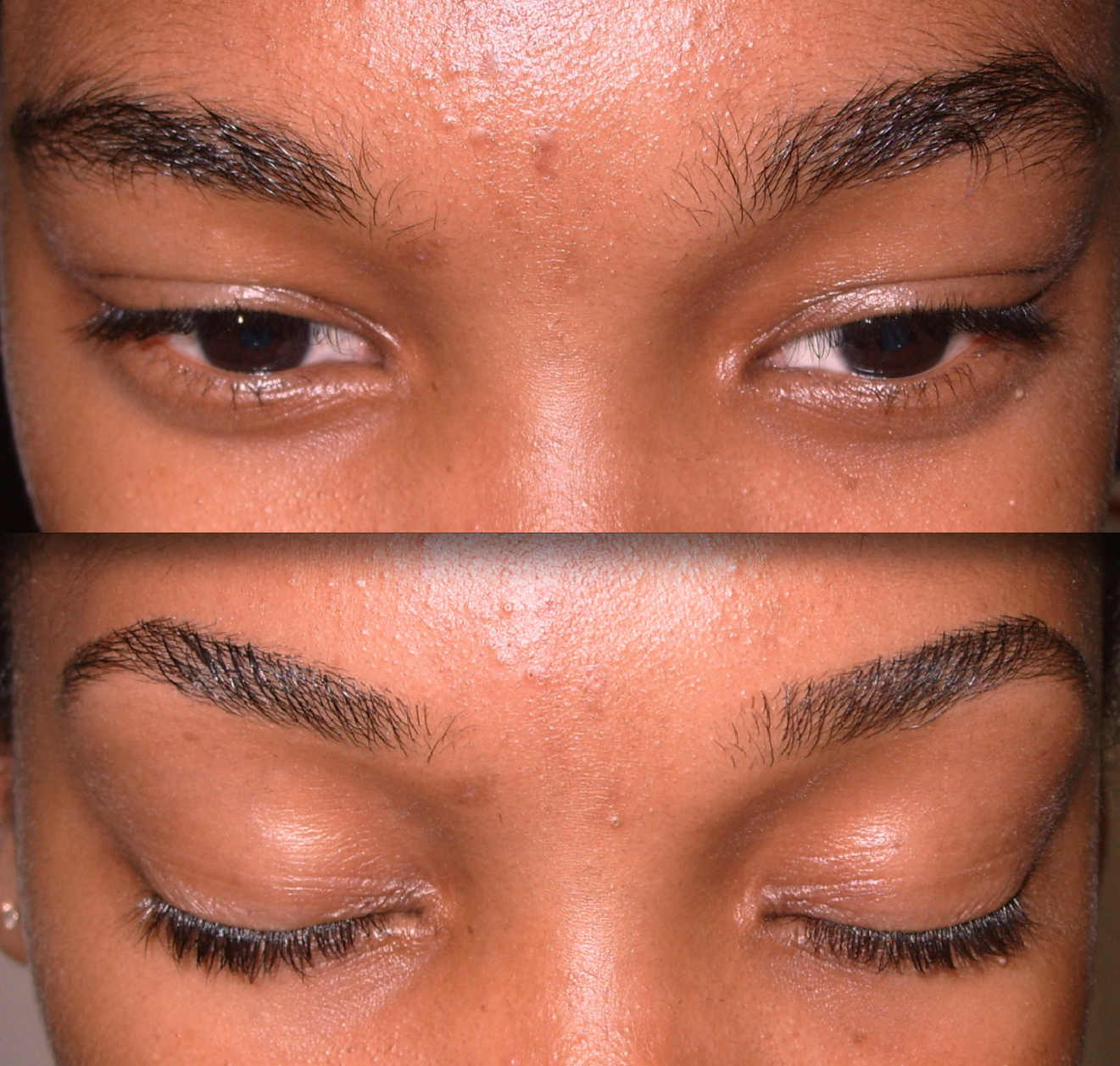 Thick Eyebrows threaded and defined | Threading eyebrows ...