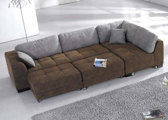 Convertable Sectional Sofa Bed With 2 Ottomans Free Shipping