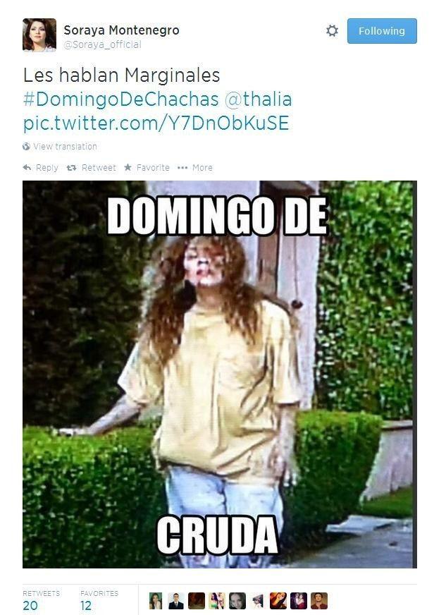 """""""Soraya Montenegro"""" es el nuevo feed de Twitter que debes estar siguiendo"""