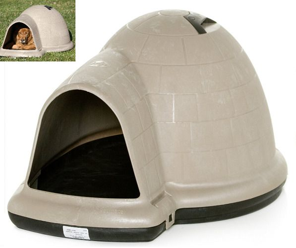 Heavy Duty Dog House Large Pet Roof Vent Doorway Shelter