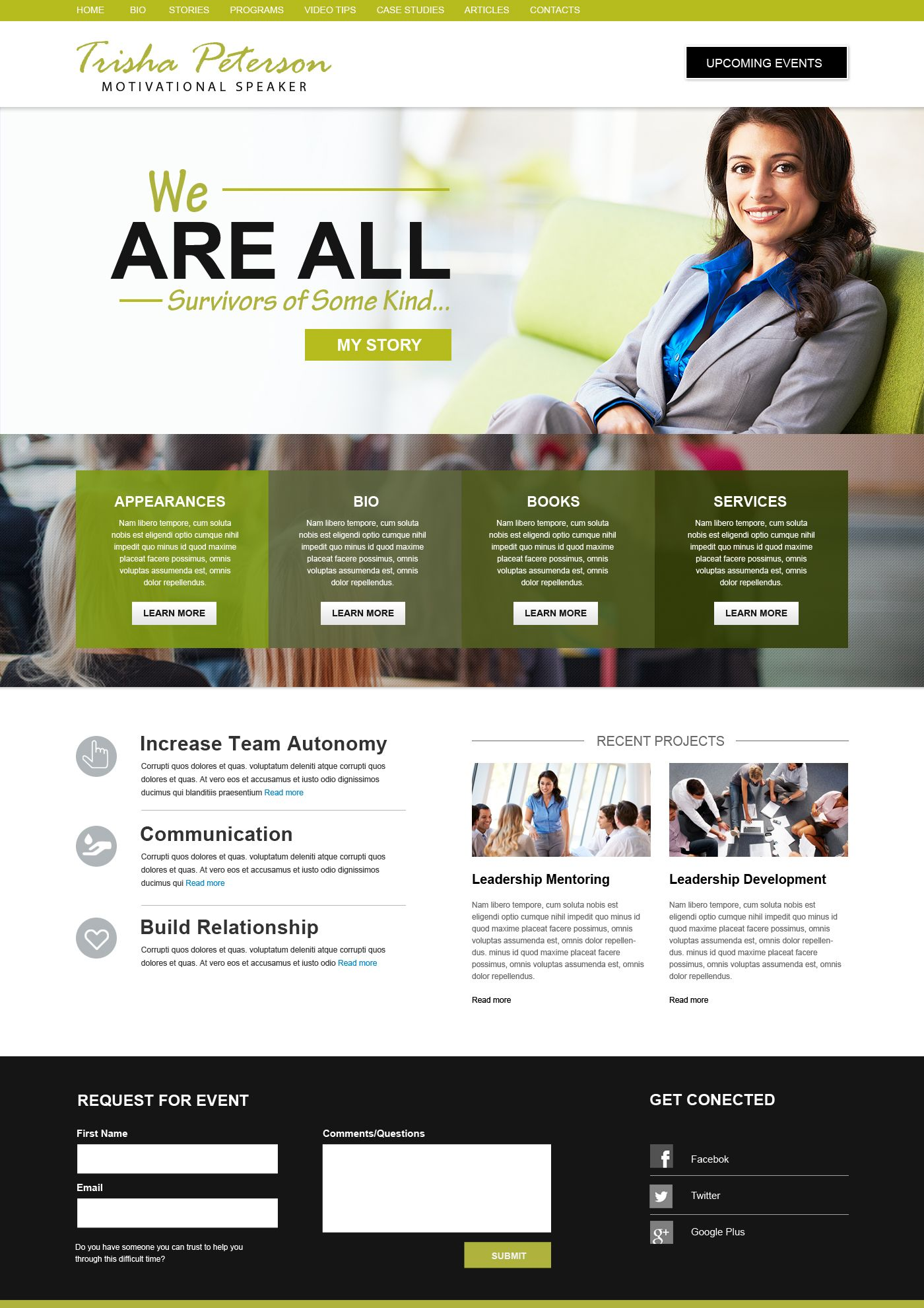 Public Speaker Website Design Inspiration Web Development Design Website Inspiration Beautiful Website Design
