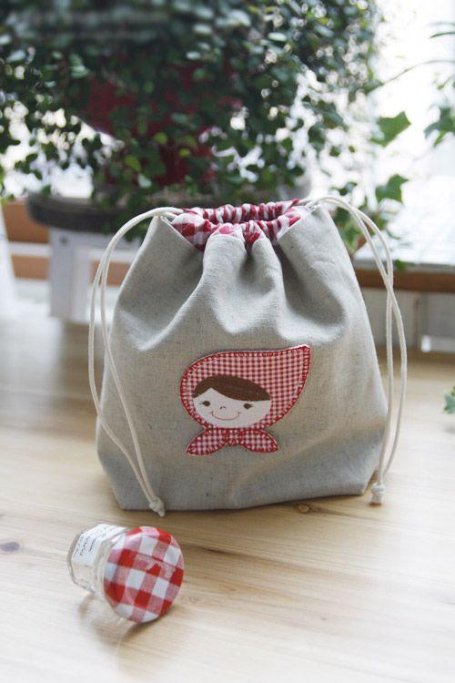 Drawstring Bag Tutorial, Gift Bags. Idea Drawstring Pouch. Pattern + ...