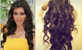 ★ KIM KARDASHIAN HAIR | HOW TO CURL LONG HAIR TUTORIAL | BIG, SEXY, SOFT CURLS HAIRSTYLES #softcurls